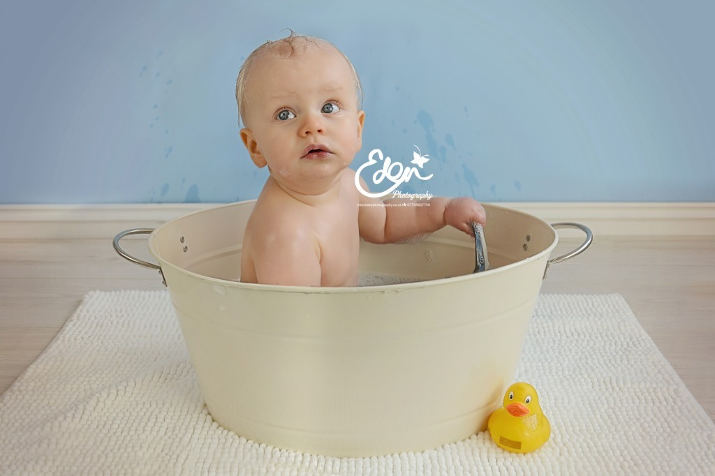 Baby Bath Tub Photography
